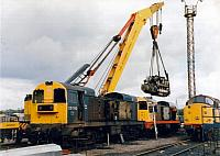 96706 engine changing 20193 for 20104, Toton Depot, 1993 (1)
