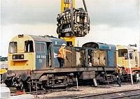 96706 engine changing 20193 for 20104, Toton Depot, 1993 (2)