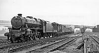 Breakdown train entering Bletchley, 11.4.1963
