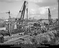 Two of the six Ransomes & Rapier cranes built in 1940 to order E8137-8, of which four went to the GWR.