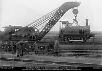 One of the three Craven Bros 25-ton cranes built in 1907 to order C.8153 for NER.  Seen here at Hull ca.1910.